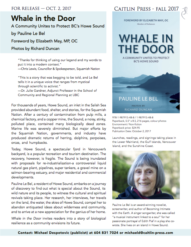 Whale in the Door press release