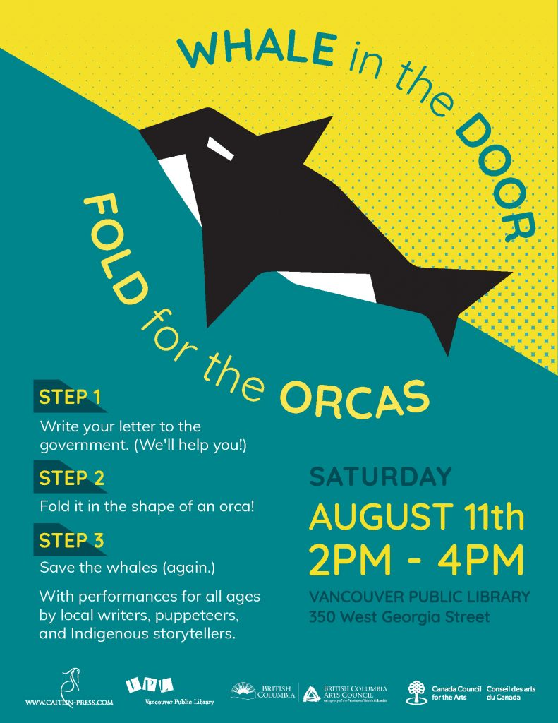 "Whale in the Door"" Fold for the Orcas"